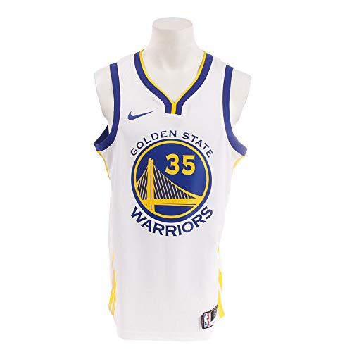 Nike GSW M Nk Swgmn JSY Home Trikot für Herren, Golden State Warriors S Mehrfarbig (weiß/gelb/Rush Blue)