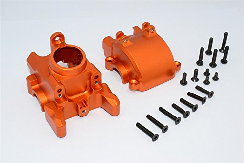 GPM Axial Yeti XL Monster Buggy Upgrade Pièces Aluminium Front Axle Housing Mount - 1 Set Orange