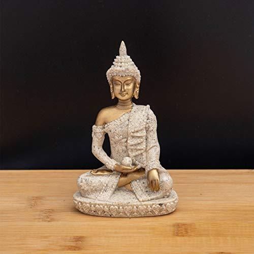 Carefree Fish Buddha Statue Minimalist Sandstone Decoration Buda Decor Bring Home a Ray of Sunshine 4Inch
