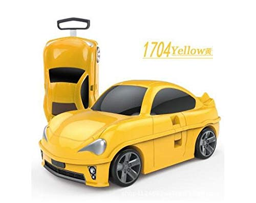 Mdsfe Kids Rolling luggage suitcase racing car Travel Luggage Children Travel Trolley Suitcase for boys wheeled suitcase for kids - refer to photo
