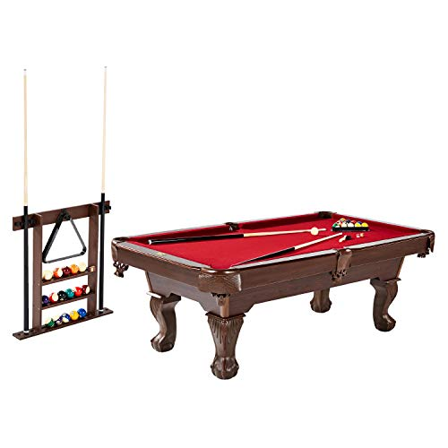 Barrington Billiards Bellevue 90'' Billiard Table with Cue Rack, Red (BL090Y20005)