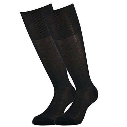 Fontana Calze, 6 paia di calze UOMO lunghe in 100% Cotone Filo di Scozia. ANTRACITE TG 45/47