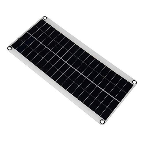 GNY Cargador Solar Panel Solar portátil 100W 18V Double USB Power Banco de energía Batería Externa Carga de células solares de células Solar Clips de cocodrilo Cargador de Coche
