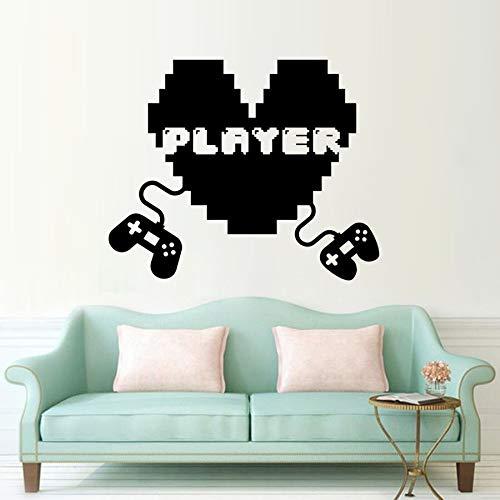 BJWQTY Spiel Joystick Wandtattoo spielen Wandaufkleber zwei Spielsteuerungen Wanddekoration Wandbild abnehmbare Wandmalerei 57x47cm