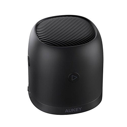 AUKEY Mini Bluetooth Lautsprecher mit Radio, Mikro SD Karte Slot und Metallgehäuse, tragbare Radio Box mit 3,5mm Audio Eingang für iPhone, Samsung, Echo, Laptops und Mehr