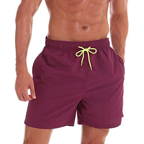 Quick-Drogen Shorts - Heren strand broek Casual Shorts Summer sneldrogende broek Jogging Gym Shorts,H,M