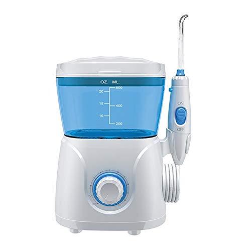 D&M Professionelle Munddusche Elektrisch 600ml Wassertank 10 Wasserdruck einstellungen 8 Düsen Pulszahl 1250-1700 mal/Minute