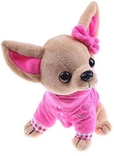 Siamrose 1piece Perro Relleno Felpa Chihuahua Felpa simulación muñeca de la Felpa de Kawaii Regalo Creativo for niños y niñas LTLNB