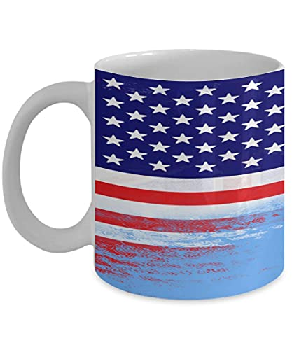 N\A USA Fidschi Flagge polynesische 11oz weiße Kaffeetasse Teetasse