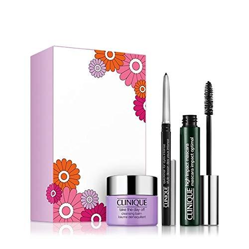 Clinique High Impact Favourites Augen Make-up Set (Mascara,7ml+Reinigungsbalsam,15ml+Eyeliner,0.14g)