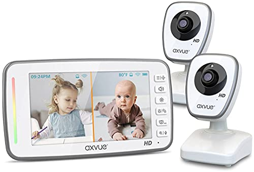 Product Image of the [HD] Video Baby Monitor, 720P 5' HD Display, IPS Screen, 2 HD Cams, 24-Hour...