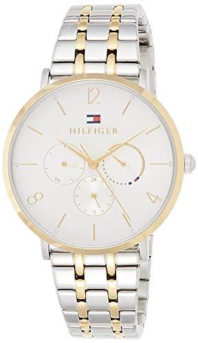 Tommy Hilfiger Damen Multi Zifferblatt Quarz Uhr mit Edelstahl Armband 1782032