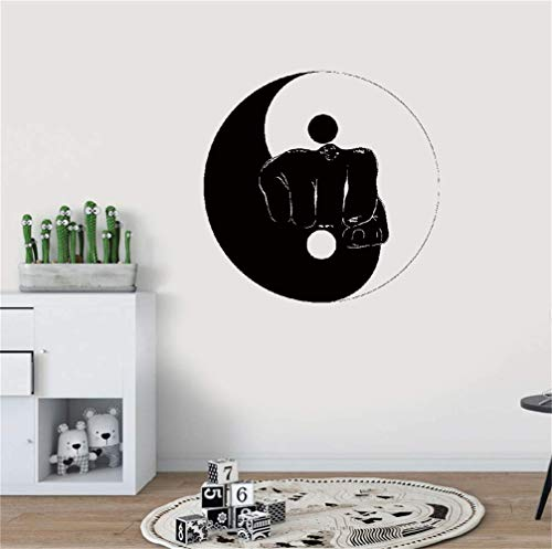 stickers muraux enfants Yin Yang Arts Martiaux Sports Fitness Combat Gym