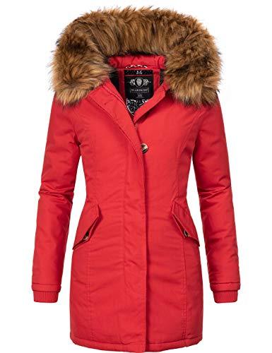 Marikoo Damen Winter Mantel Winterparka Karmaa-Prc Rot Gr. S