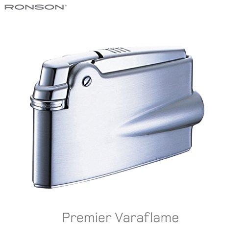 Ronson Premier Varaflame Feuerzeug, satiniertes Chrom