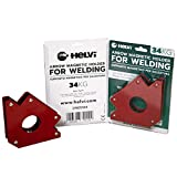 Helvi 21905124 Supporto Magnetico Fisso per Saldatura, Rosso, 34 kg