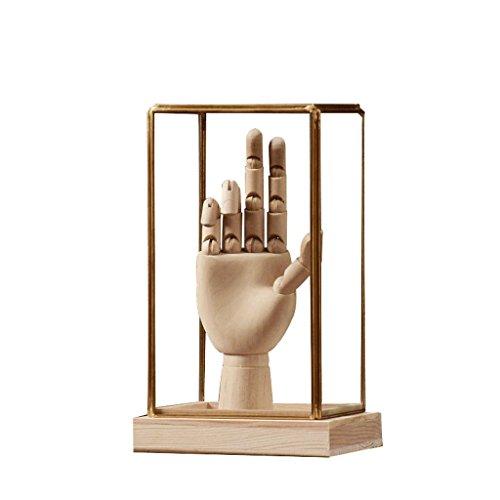 Ornements de Style du Nord Sculpture Doigt Forme Statue Accessoires pour la Maison Couverture de Verre Ornements Vêtements Magasin Café Affichage Décorations Salon Rollsnownow