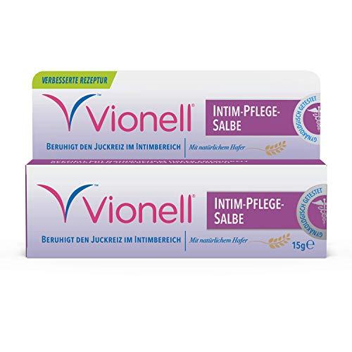 Vionell Medicated Crème, schnelle Linderung von Juckreiz, Brennen und Reizungen im Intimbereich, 2er Pack (2 x 15 g)