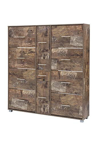 Schildmeyer Sydney Schuhschrank 701282, Panamaeiche Dekor, 146,7/30/163,7 cm