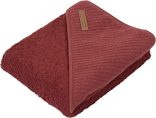 LITTLE DUTCH TE50630160 Kapuzenhandtuch Frottee pure Indian rot Größe: 75x75 cm