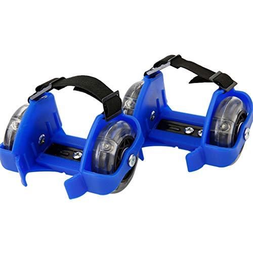 Eazyrollers Heel Skates Adjustable Fun Summer Fits Back Of Your Shoe Blue