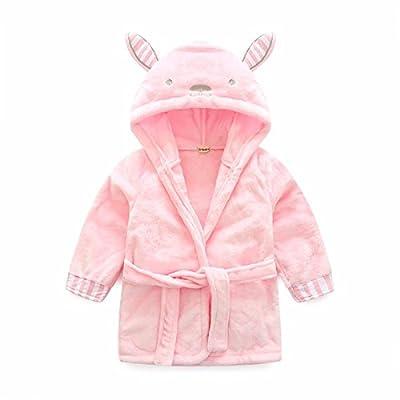 Toddler/kids Hooded Robe Animal Fleece Bathrobe Unisexy Kids Pajamas Sleepwear