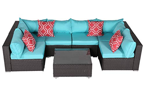 Do4U Patio Sofa 7-Piece Set Outdoor Sectional