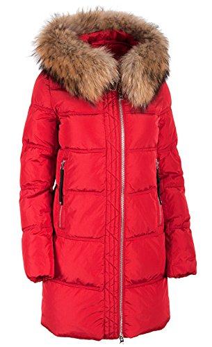 Grimada 017CH dames winterjas jas in dons-look CLASNA met echte bontcapuchon (lengte ca. 82 cm)