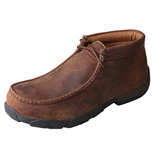 Twisted X Men's Work Steel Toe Chukka Driving Moc - Metguard, Peanut, 9.5(M)