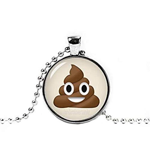 heng Yuan Tian Cheng, süße Emoji-Halskette, Kackhaufen-Emoji-Anhänger, geeky Halskette