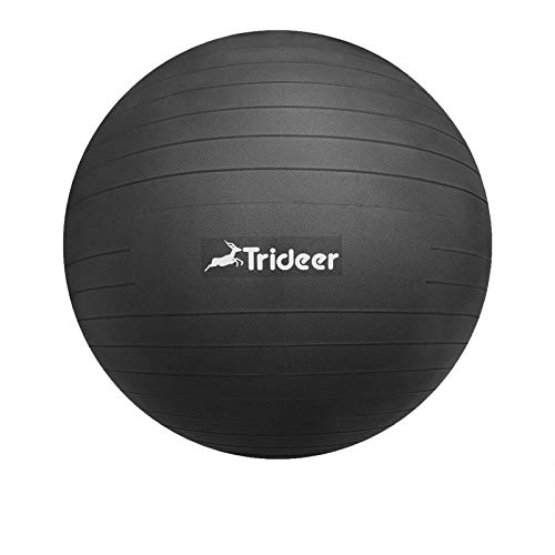 Trideer バランスボール 45/55/65/75cm(11色)厚い 耐荷重500KG アンチバースト 滑り止め フットポンプ付...