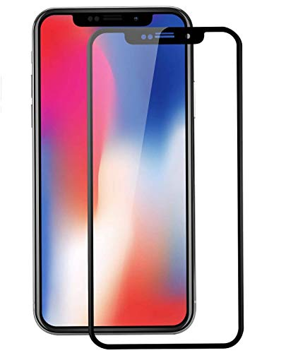 2 Unidades iPhone X Protector de Pantalla, WEOFUN 3D Pantalla Completa Vidrio Templado para iPhone X/iPhone 10 Cristal Templado 5.8 Pulgadas [0,33mm, 3D Touch, Negro]