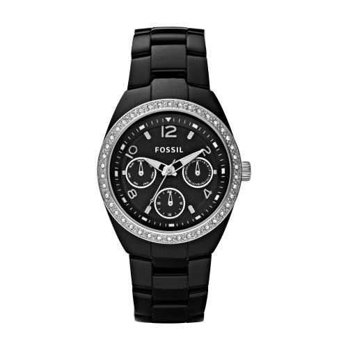 Fossil Damen-Multifunktionsuhr Keramik Analog Quarz CE1043