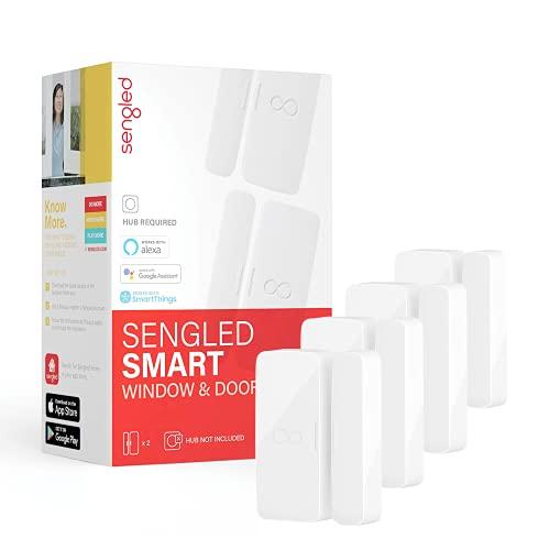 Sengled Smart Door Sensor, Smart Sensor for Window and Door, Hub Required, Compatible with Alexa, Google Assistant and SmartThings, APP Control, 4 Pack