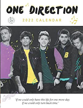 2022 Calendar  One Direction - Yearly Monthly 18-month Calendar 2022 with Large Grid for Planning Scheduling and Organizing