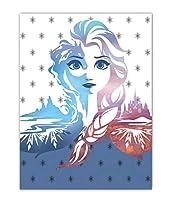1042 ディズニー アナと雪の女王2 フリース ブランケット 毛布 ひざ掛け 100cm x 140cm Disney Frozen2 fleece blanket [並行輸入品]