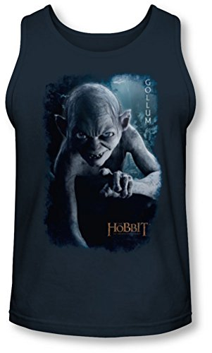 The Hobbit - - Gollum affiche Tank-Top pour hommes, Medium, Navy