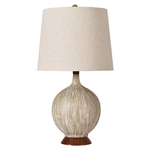 SXNYLY Dormitorio de estilo Mediterráneo lámpara de cabecera de la planta creativa de frutas lámpara de mesa lámpara cama American Country coco cerámica lámpara de cabecera for el dormitorio, Escritor