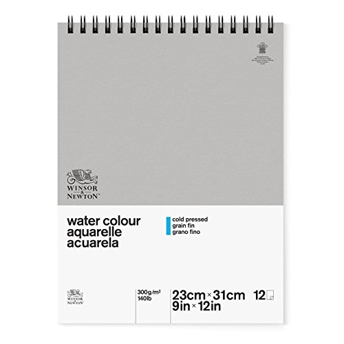 Winsor & Newton Classic Watercolor Paper Spiral Pad, Cold Pressed 140lb, 9'x12', White