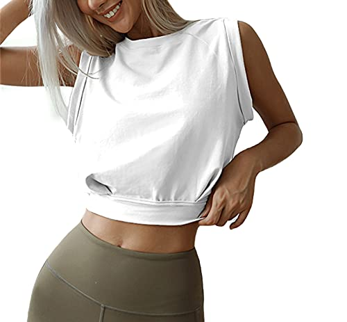 ARRIVE GUIDE White Crop Tops for Wo…