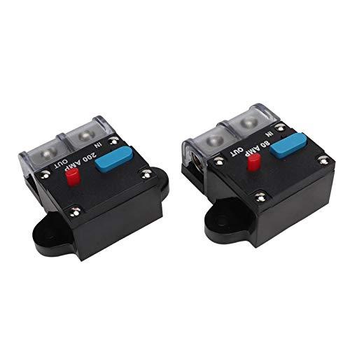 Disyuntor 80A / 200A Universal Práctico Restablecible Durable para Coche Accesorio Automático