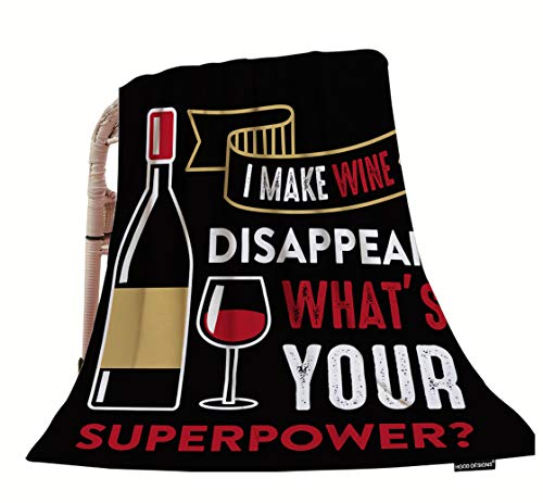 HGOD DESIGNS Wine Quote Throw Blanket,Wine Funny Quote and Saying I Make Wine Soft Warm Decorative Throw Blanket for Baby Toddler or Pets Cat Dog 30'X40'