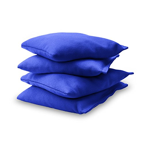 GoSports Official Regulation Cornhole Bean Bags Set (4 All Weather Bags) - 15 Colors Available, Royal Blue (CH-BAGS-4-RoyalBlue)