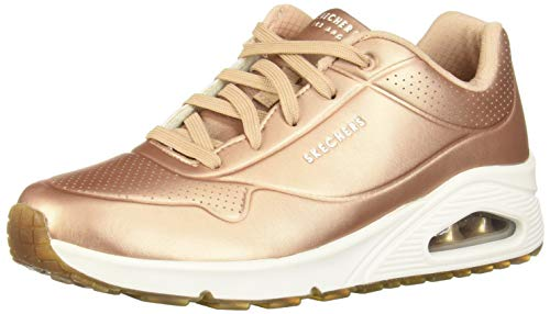 Skechers Women's UNO Bold Trainers, Pink (Rose Gold Duraleather Rsgd), 7 (40 EU)