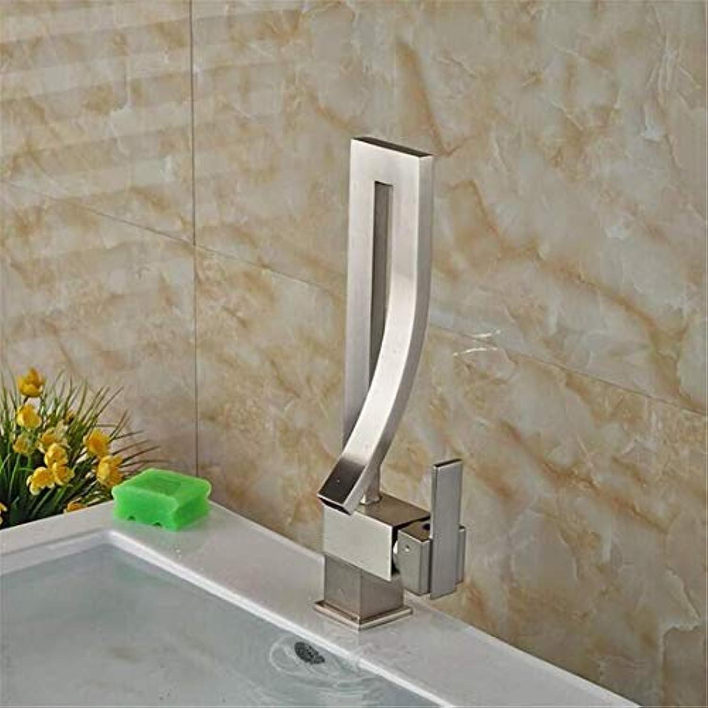 Wasserhahn Moderne überzogene Küche Badezimmerhahn Becken-Hahn-Hahn-Hahn-Einziger Handgriff-Wasserfall-Plattform Brachte Heie Und Kalte Wasserhhne An