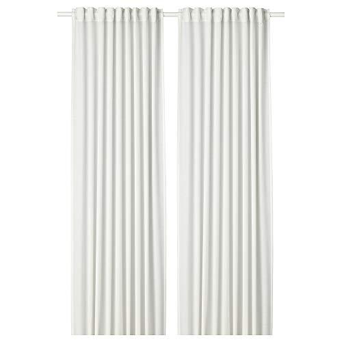 HILJA - Cortinas (1 par, 145 x 300 cm), color blanco