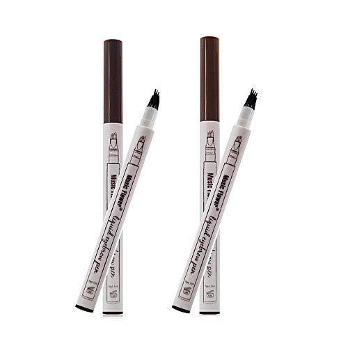 Lápices Cejas líquido cuatro puntas tenedor