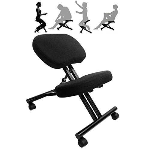YAMMY Kneeling chair, faux leather, thick and comfortable molded foam cushions, correct posture anti-myopia chair, for home and office
