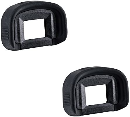 2 Pack JJC Eyecup Eyepiece Eye Cup Viewfinder for Canon EOS 5D Mark IV 5D Mark III 5DS R 5DS 7D 7D Mark II 1Dx Mark III 1Dx Mark II 1Ds Mark III 1D Mark IV 1D Mark III Camera, Replaces Canon Eg Eyecup