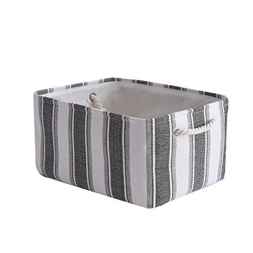 TcaFmac Basket, Fabric Storage Basket, Empty Gift Basket, Cloth Storage Bin, Dog Toy Basket with Handles, Shelf Baskets for Office,Closet, 16(L) x 12(W) x 8(H) inch